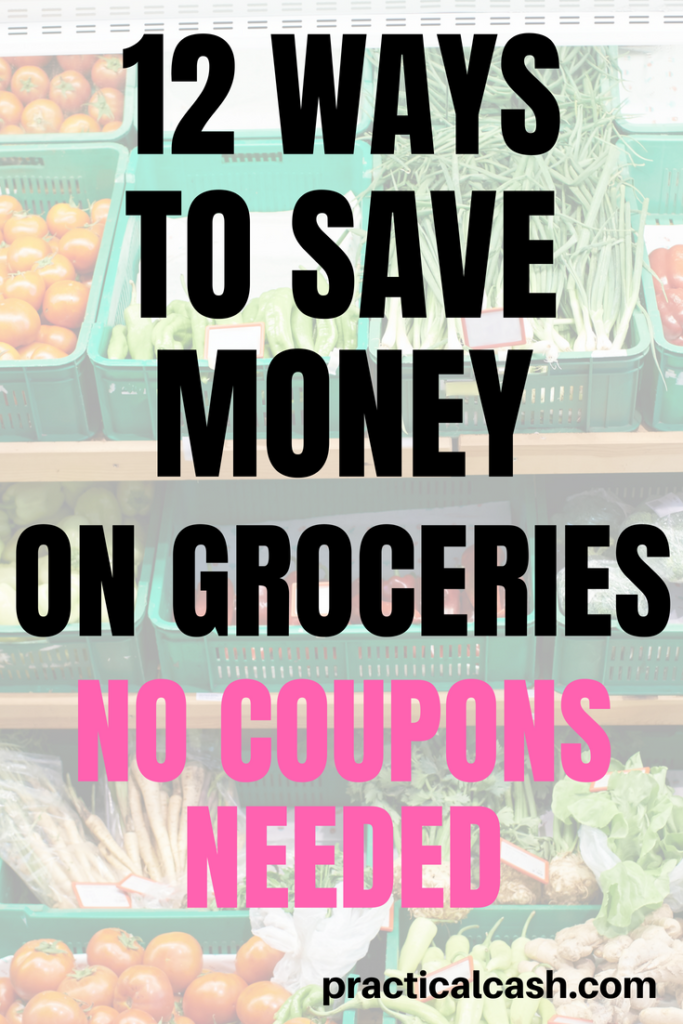 Save money on groceries and meal planning with these 12 tips for food shopping #savemoney #money #nospend #foodprep #mealplanning #frugalliving