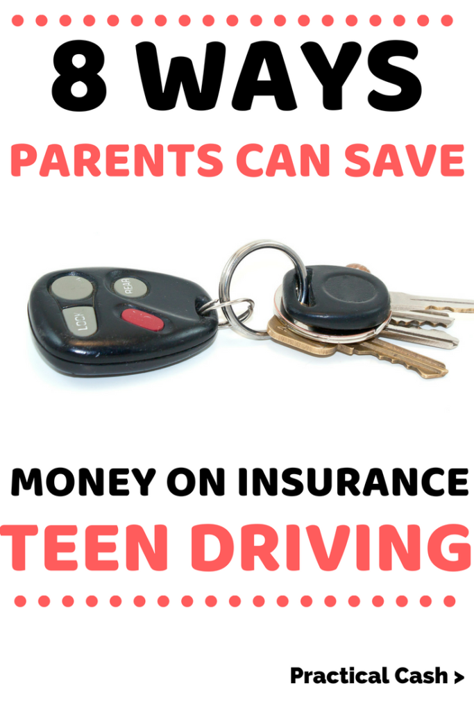 8 Ways Parents Can Save Money on Teen Driving Insurance #savemoney #insurance #teens #driving #parenting #frugalliving