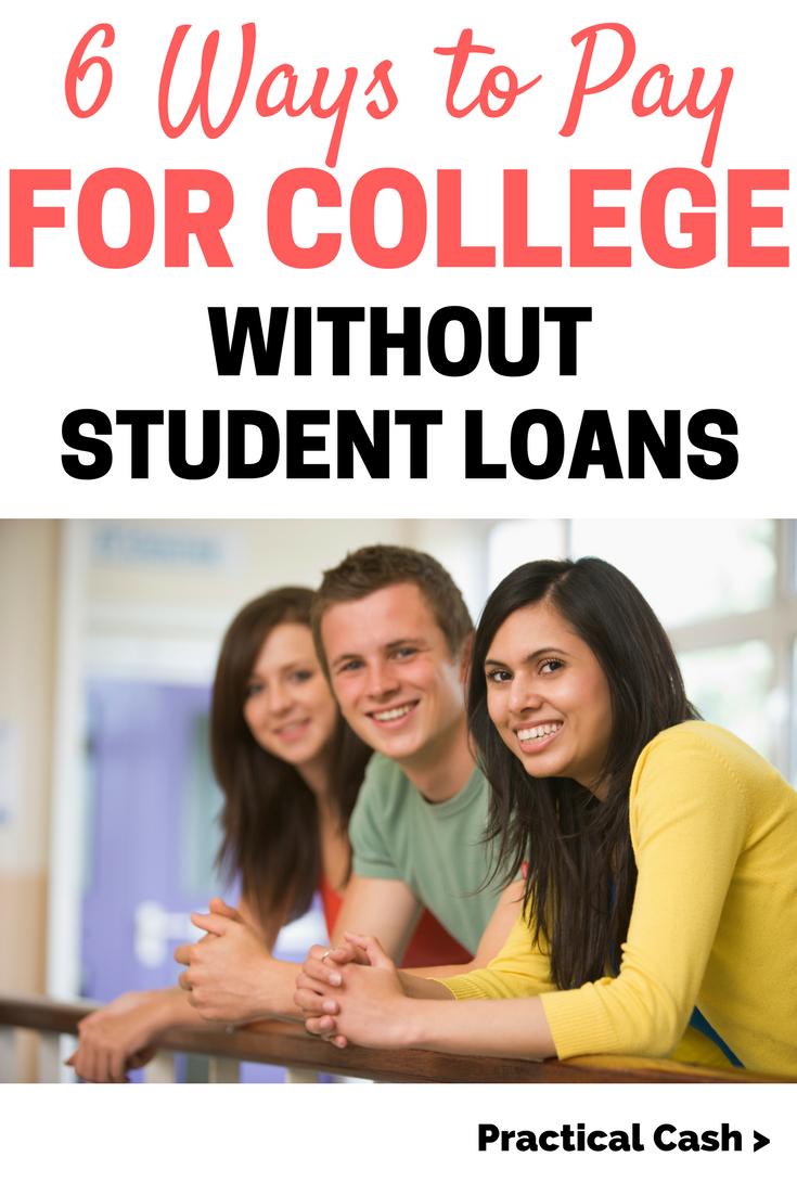 How to Pay for College without Student Loans #college #collegetips #studentloans #savemoney #collegelife #debtfree
