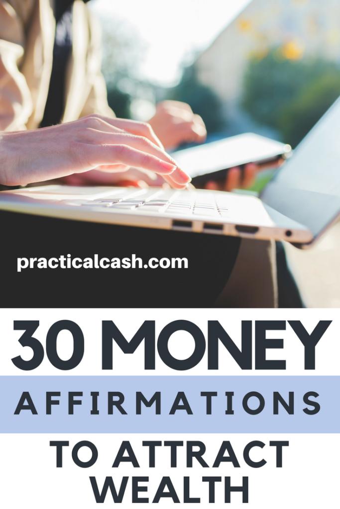 Change your money mindset! 30 Money Affirmations to Attract Wealth and Abundance #affirmations #personalfinance #makemoney #payoffdebt #mindset #abundance