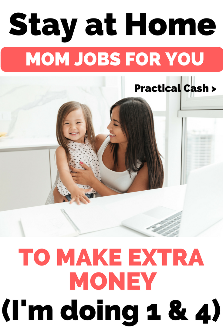 4 Side hustles for Stay at Home Moms - Help your family by making extra income #sidehustle #stayathomemom #momjobs #workathome #workathomemom