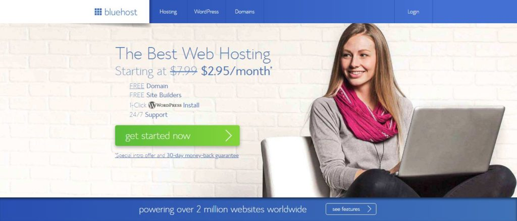 bluehost 2.95