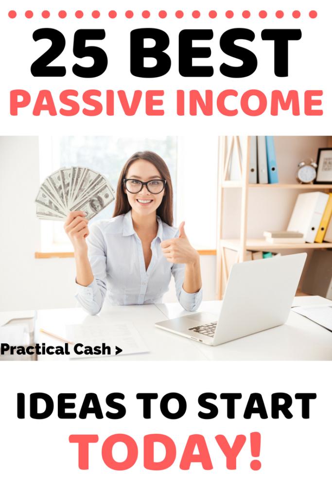 HUGE list of 25 passive income opportunities you can start today! #passiveincome #makemoney #makemoneyonline #sidehustle