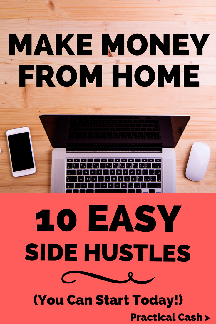 Make money while the temps rise! 10 Summer Side Hustles to Make Money from Home #sidehustle #makemoney #workathome #workathomemom #makemoney #personalfinance