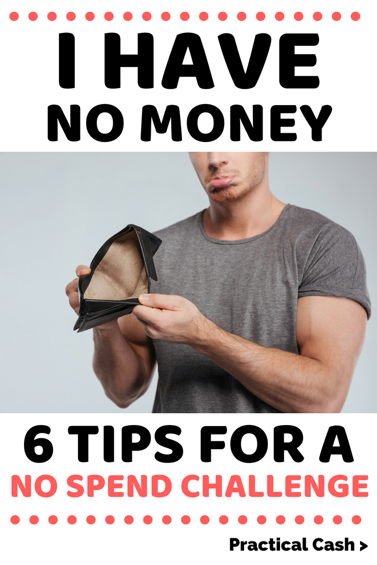 I have no money! Tips & tricks when you're doing a no spend money challenge #payoffdebt #ihavenomoney #spendless #personalfinance #moneymanagement #nospend #nospendchallenge