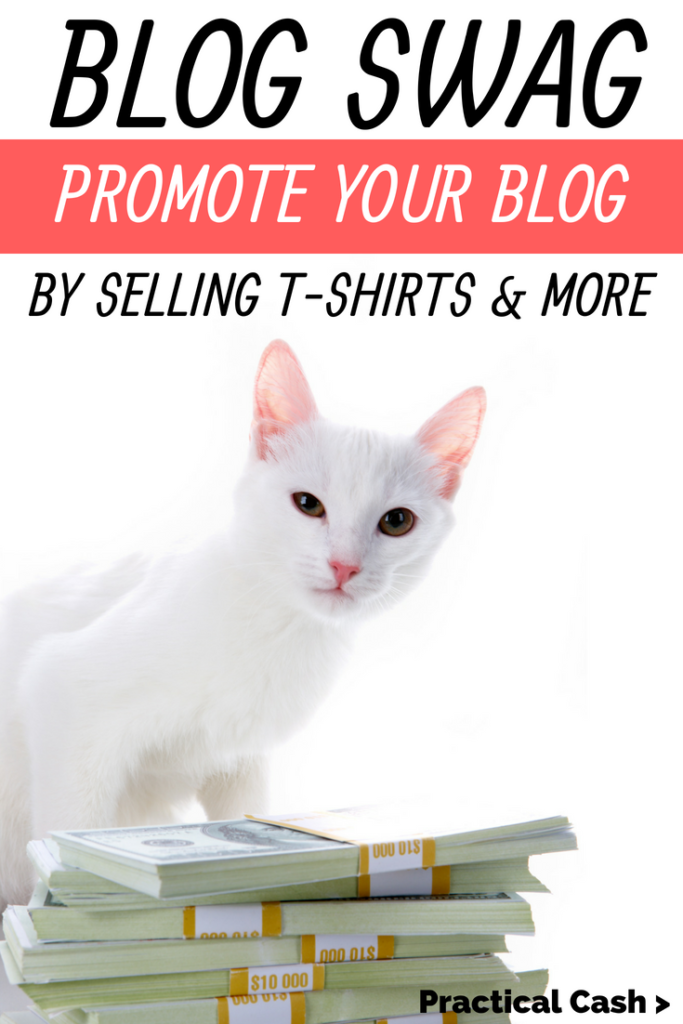 Make cash with your own blog merch! Easy step-by-step guide to making your own blog swag to sell or monetize your channel or blog #merch #makemoneyonline #selltshirts #blogging #blogger #makemoneyblogging