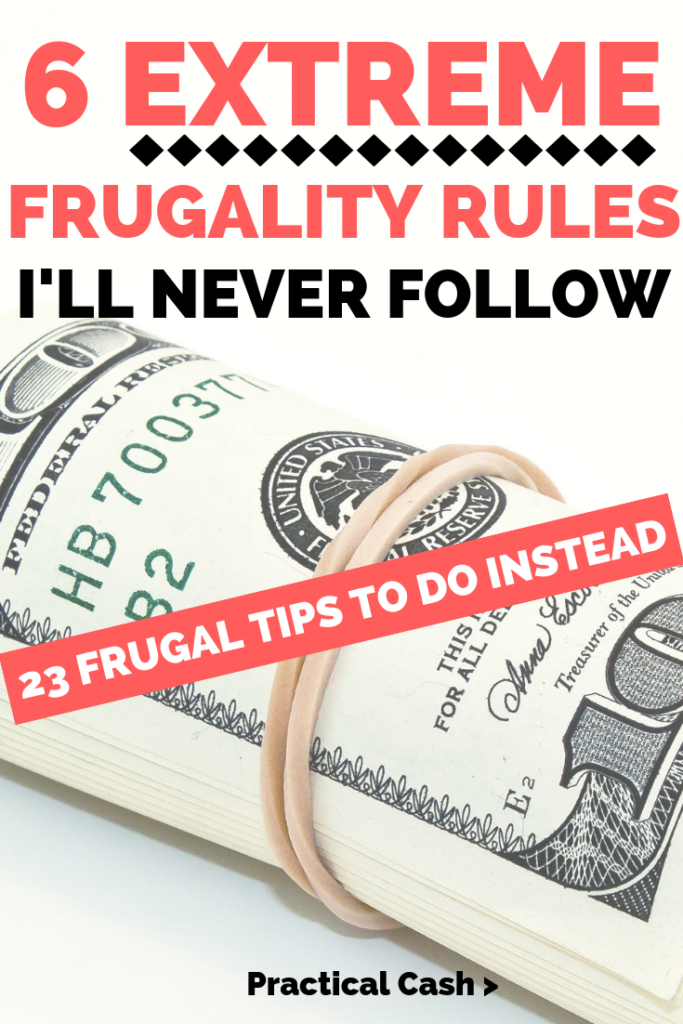 Extreme frugality tips for money