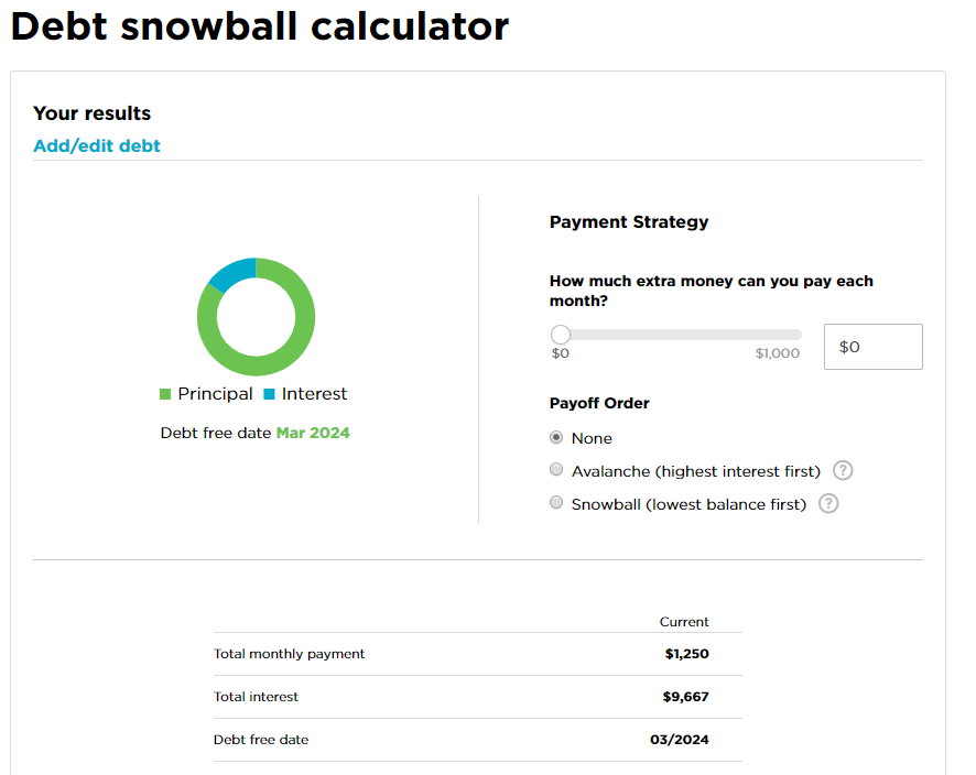 nerdwallet debt snowball calculator
