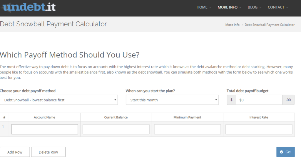 undebtit snowball calculator