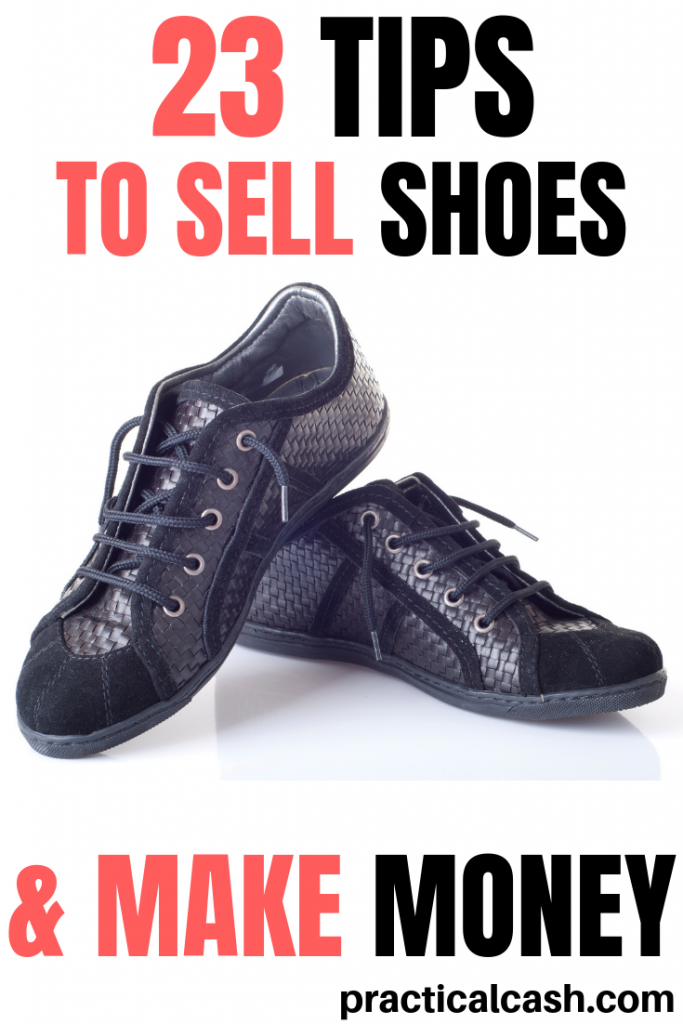 Ever wondered if you could make money used shoes? Start your online shoe sales business today! #makemoneyonline #sidehustles #sellonebay #selling #makemoney